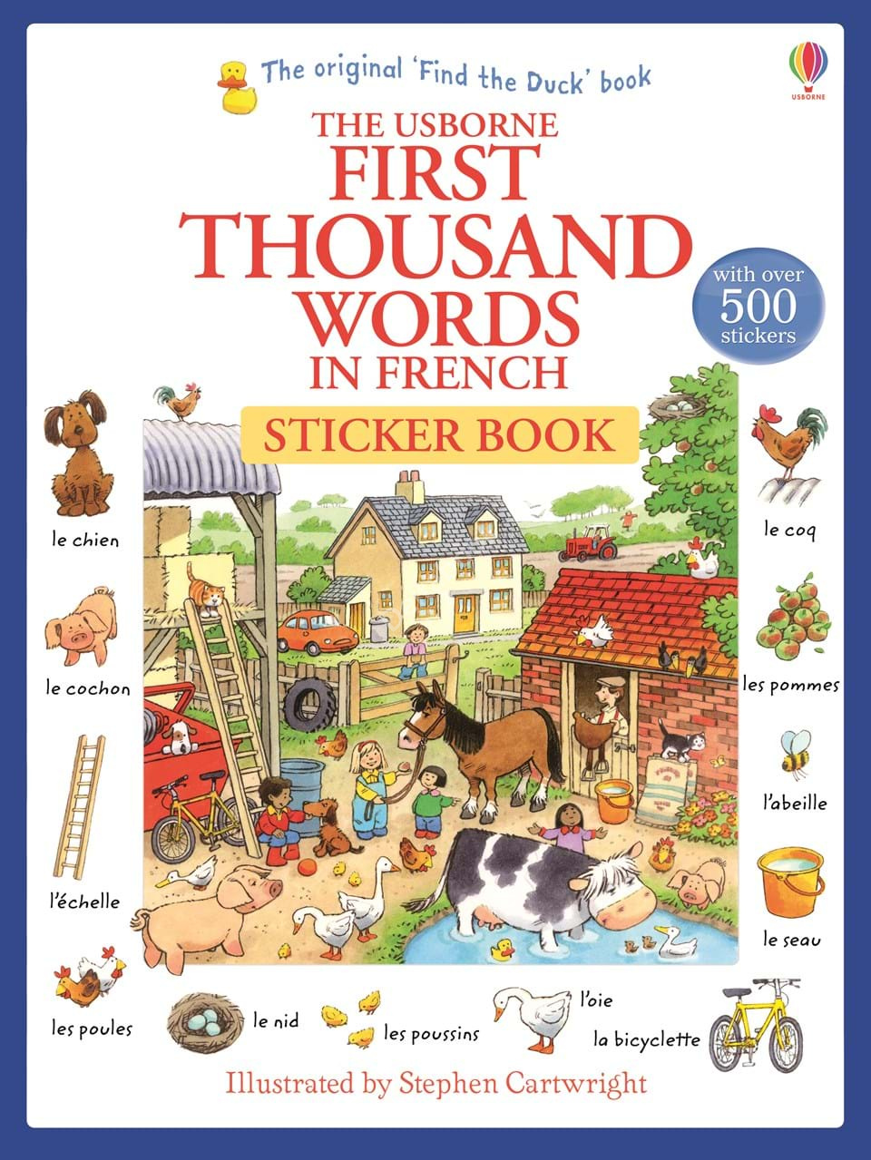 First thousand words in French Sticker Book  Стикербук